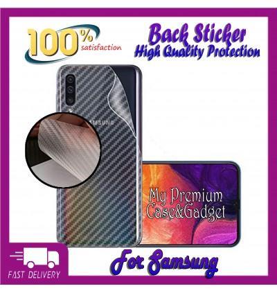 Samsung Galaxy A10, A20, A30, A50 Back Carbon Fiber Sticker Protection