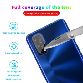 Realme 3, 3 Pro, 5/5i/5S/6i, 7, C2, C3, X2, X2 Pro, XT Back Rear Camera Lens Full Cover Glue Clear HD Tempered Glass Protector