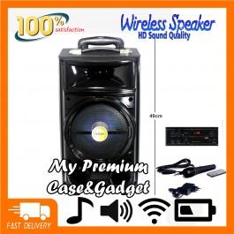 Big Portable Bluetooth Speaker SUPER BASS BK-800 With Microphone/AUX/USB/TF Card/Bluetooth/FM