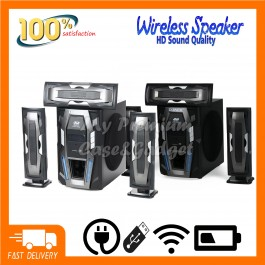 Speaker DJACK 3.1 Heavy Duty 3D Real Sound Sub Woofer Super Bass System With Bluetooth/USB/FM/TF Card