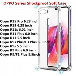Oppo R9S, R9S Plus Crystal Clear TPU Transparent Case