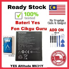 [100% FULL CAPACITY] Battery YES Altitude M631Y-HP For Teacher / Lenovo A6000 BL242 High Quality Replacement Spareparts