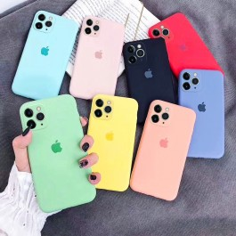 Full Coverage iPhone 11,11 Pro,11 Pro Max Candy Liquid Full Camera Protection Case With Logo