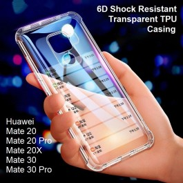 Huawei Mate 30, Mate 30 Pro/Mate 30 Pro 5G Anti-Burst Shockproof Extra Strong Silicone Airbag Clear Transparent Hard Case Like King Kong