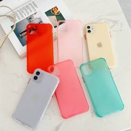 Redmi 8, Note 8 Pro, Note 9, Note 9S Matte Transparent Colorful Rainbow Anti Crash Shockproof Full Cover Silicone Case