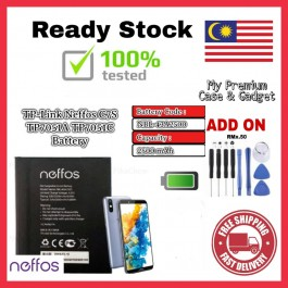 [100% FULL CAPACITY] Battery Neffos TP-Link C7A, C7S, C7 Lite NBL-46A2300/TP705A NBL-38A2150/TP7041A NBL-43A2500/TP7051A High Quality Replacement Spareparts Add-On Tools