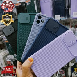 iPhone 11,11 Pro,11 Pro Max,12,12 Pro,12 Pro Max Push-pull Camera Protection case Slide Lens Silicone Shockproof Cover