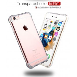 iPhone 4/4S, 5/5S/SE, 6/6S, 6 Plus/6S Plus, 7/8, 7 Plus/8 Plus, X TPU Transparent Anti Shock Silicone Case