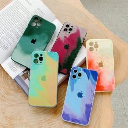 iPhone 7/8/SE, 7 Plus /8 Plus, X/XS, 12, 12 Pro Max Watercolor Art Soft Case Liquid Silicone Case Camera Full Protection
