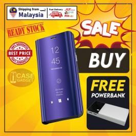 [FREE POWERBANK] Samsung Galaxy S10, S10E, S10 Plus, S20, S20 Plus, S20 Ultra 5G New Smart Mirror View Flip Case