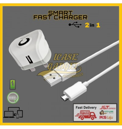 [ORIGINAL] KAZHI C35 C36 Flash Charger 5V 3.0A Smart Fast Charge Adapter FREE Micro USB Data Sync Cable QC 3.0