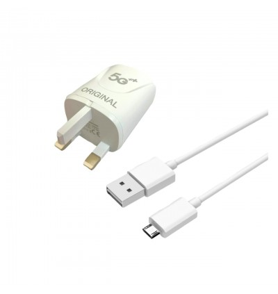 OPPO Realme 5G Fast Charging Charger 3.1A Dual USB Port Adapter FREE VOOC Micro USB Data Sync Cable With LED Light