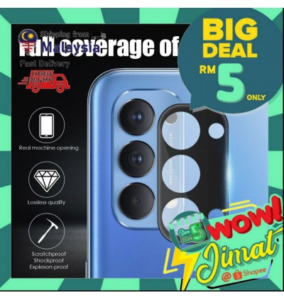[3D FULL COVER] Vivo Y12S/Y20/Y20S High Quality Camera Tempered Glass Lens Cap Protection Film
