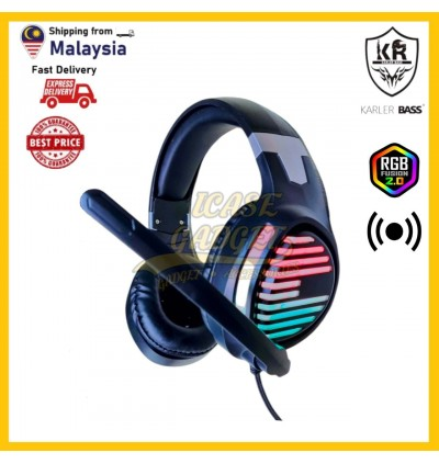 [READY STOCK] Gaming Headphone Headset Wired with Mic RGB Colourful Light PC Laptop ESPORT Noise Reduction