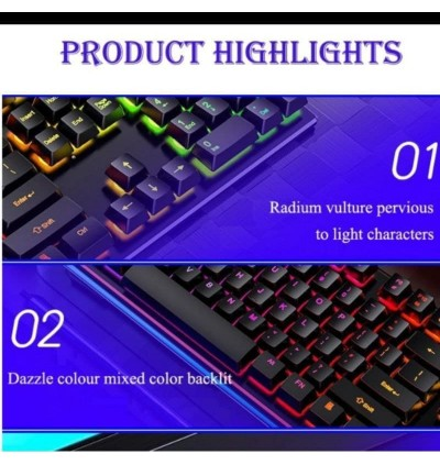 [FREE GIFT] 4 IN 1 KR Mechanical Keyboard Backlight RGB Gaming Mouse Headphone Mousepad PC Desktop ESPORT Dota LOL