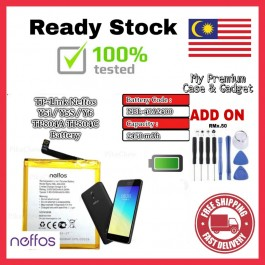 [100% FULL CAPACITY] Battery Neffos TP-Link Y5, Y5L/Y50, Y5S/Y5i/Y6 TP802A/NBL-39A2130 TP801A/NBL-46A2020 TP804A/NBL-40A2400 High Quality Replacement Spareparts Add-On Tools