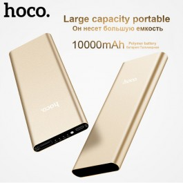 ORIGINAL HOCO B16 Powerbank 10000mAh Ultra Slim LED Indicator Quick Charging 2.1A