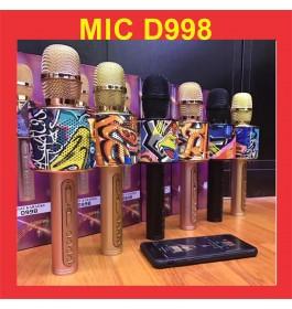 D998 The Portable Magic KTV Karaoke Bluetooth Microphone Speaker