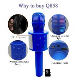 Q858 Handheld KTV Karaoke Mic Wireless Portable Bluetooth Microphone Speaker
