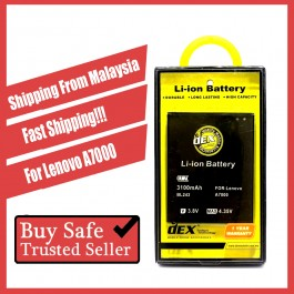 Battery DEX For Lenovo A7000, A766, A806, A850, A880, S720, S820, S920, S930