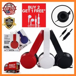 Headphones J-08 Harman Mobile Gaming Headset Over Ear Handfree HiFi 3.5mm Audio AUX Jack Music MP3 EXTRA BASS With Mic