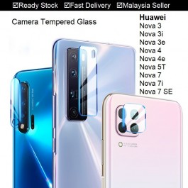 Huawei Nova 2i, 3, 3i, 4, 5T, 7i, 7SE 5G Back Rear Camera Lens Full Cover Glue Clear HD Tempered Glass Protector