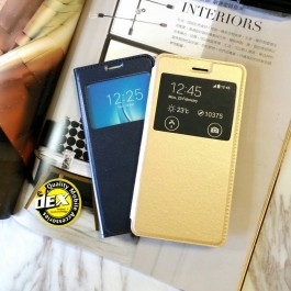 Samsung Galaxy J4 2018, J4 Core, J5 Pro, J6 Plus 2018 S View Window Notification Leather Design Flip Case Cover
