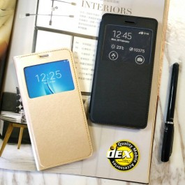 Samsung Galaxy A3 2015, A9 2016, A3/A5/A7 2017, A6/A8 2018 S View Window Notification Leather Design Flip Case Cover