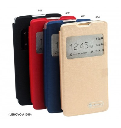 Lenovo A1000, A1900, A3600 Nillkin S View Window Flip Case Cover FREE Tempered Glass