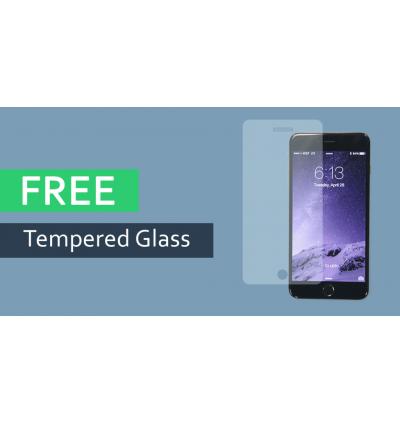Lenovo K5+ Nillkin S View Window Flip Case Cover FREE Tempered Glass