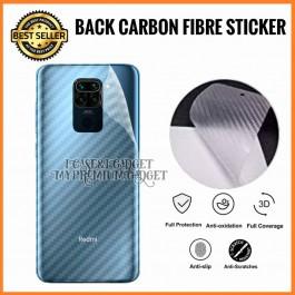 Redmi 5, 5A, 5 Plus 6A, 7, Go  3D Anti Fingerprint Back Carbon Fiber Sticker Film