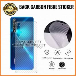 Huawei Nova Lite, Plus, 2i, 2 Lite, 3, 3i, 4, 4e, 5T, 7i 3D Anti Fingerprint Back Carbon Fiber Sticker Film