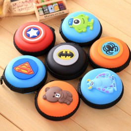 Cute Kawaii Earphone Pendrive Coins Key SD Card Storage Organizer Pouch Bags Case