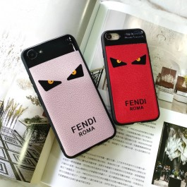 iPhone 5/5S, 6/6S, 6 Plus/6S Plus, 7/8, 7 Plus/8 Plus  Branded Fendi Devil Eyes Soft Silicone Fashion TPU Case