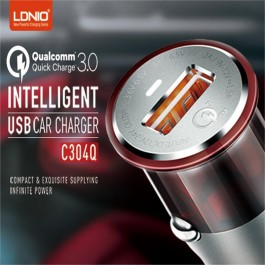 LDNIO C304Q Qualcomm Fast Charge QC 3.0 USB Car Charger Technology Intelligent