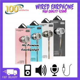 Aiersenn A905 Wired Colorful Stereo Bass Earphone With Mic
