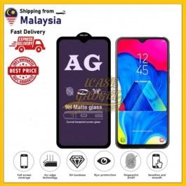 [FULL COVER] Samsung Galaxy A01, A02, A02S, A10, A11, A12,  A20/A30, A32 5G, A52, A91  9D AG Matte Anti Blue Ray Light Fingerprint Full Glue Gaming Tempered Glass